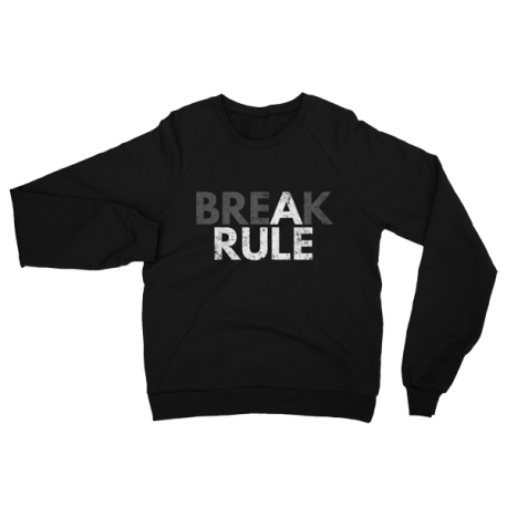 Black Break A Rule Crewneck Sweater