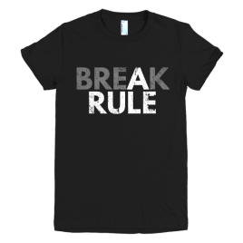 black-break-a-rule-womens-graphic-t-shirt