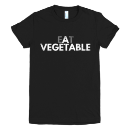 black-eat-a-vegetable-womens-graphic-t-shirt