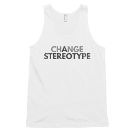 White-Change-a-Stereotype-Men's-Tank-Top