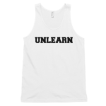 white-unlearn-mens-tank-top