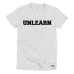 white-unlearn-womens-t-shirt