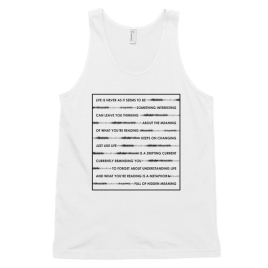 Wordplay Unisex / Men's Tank Top