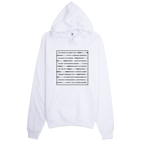 White Wordplay Pullover Hoodie