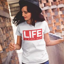 life-is-womens-white-t-shirt