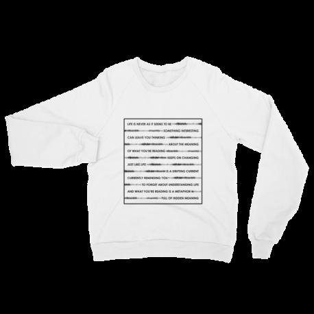 White Wordplay Crewneck Sweater