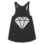 black-seek-truth-not-diamonds-womens-racerback-tank