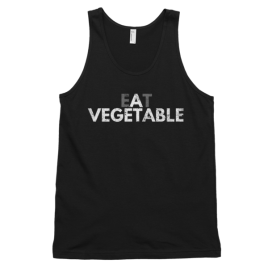 Eat a Vegetable Unisex / Men's Tank Top