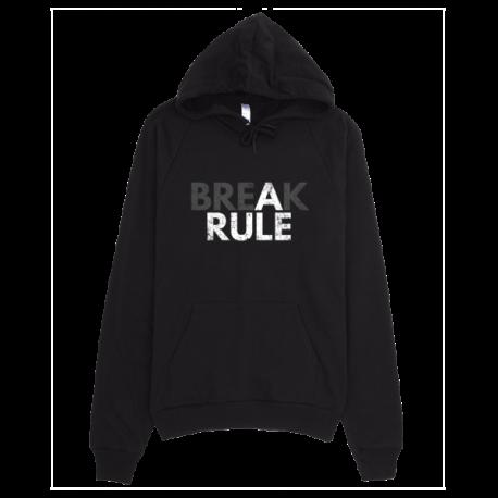 Black Break A Rule Pullover Hoodie