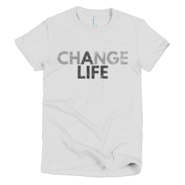 white-change-a-life-womens-graphic-t-shirt