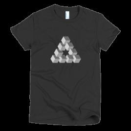black-triangulation-womens-t-shirt