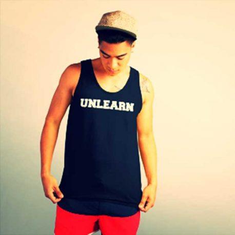 black-unisex-unlearn-tank-top